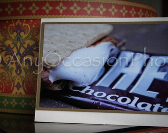 S'mores Blank Photo Greeting Card