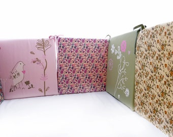 Cot Bumper, Baby Girl Crib Bumper, Crib Bumper Pads,  6 interchangeable sturdy cushions
