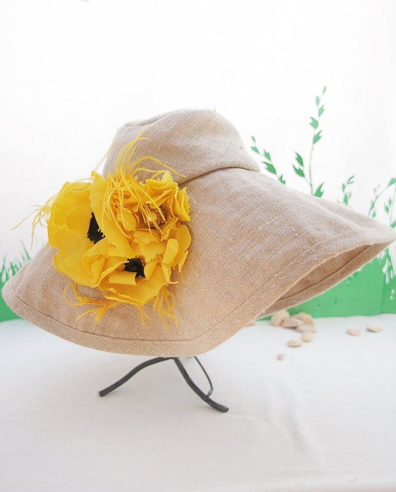 Baby Girl  Wide Brimmed Summer Hat-  flower brooch NOT included