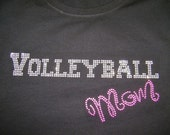 """Adult/Child  -  Volleyball Mom """"Bling"""" Shirt"""