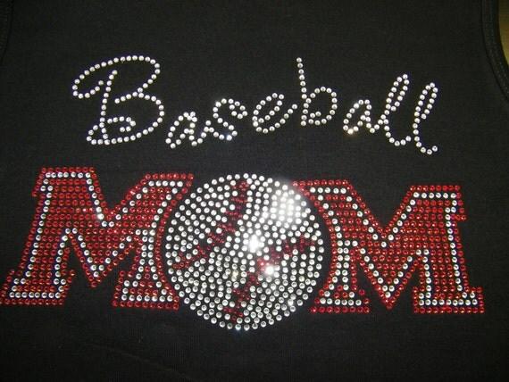 Adult - Bling Baseball Mom Custom Rhinestone Shirt