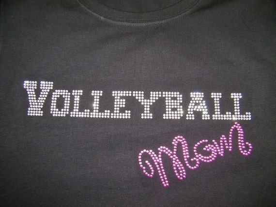"Adult/Child  -  Volleyball Mom ""Bling"" Shirt"