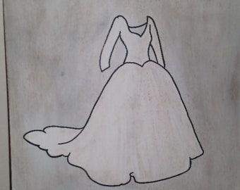 Wedding dress art
