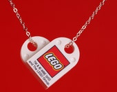 Love LEGO heart necklace