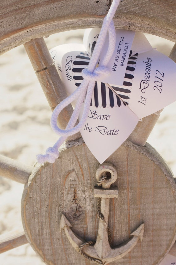 Nautical Cootie Catcher Save The Date