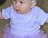 SALE       Purple Striped Onesie with Purple Tutu