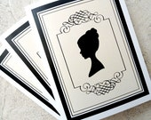 Personalized Silhouette Stationery  - Set of Ten Cards (FREE SHIPPING within the US)