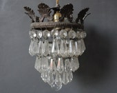 Antique Waterfall Crystal Chandelier