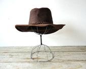 Soft Australian Leather Hat. Size L