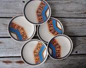 Set on Indian Feast Tepee Plates