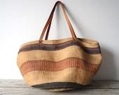 Oversize Woven Leather Southwestern Bag