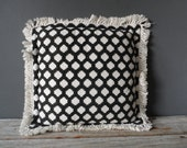 Graphic Black and White Pillow