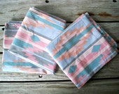 Pair of Pastel Indian Print Pillow Cases