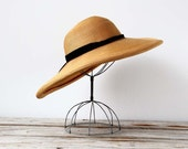 1940's Oversized Wide Brim Sun Hat