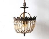 r e s e r  v e d Antique French Crystal & Bronze Chandelier
