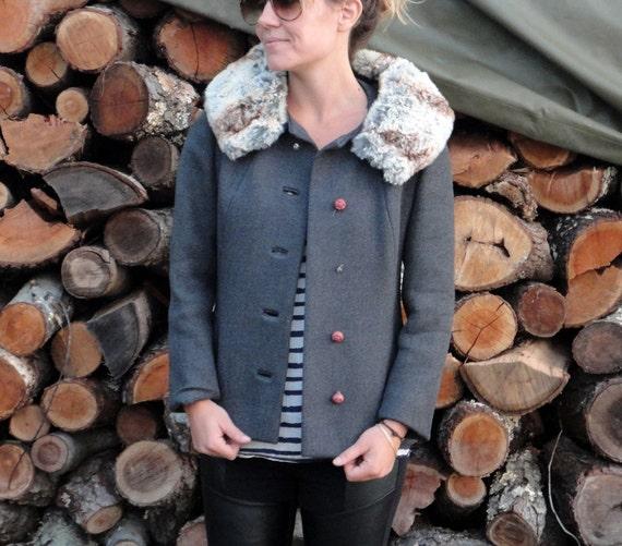 Chinchilla Jacket.  Size Medium 5/6.