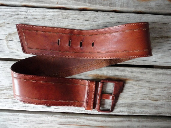 r e s e r v e d Rich Leather Wide Belt