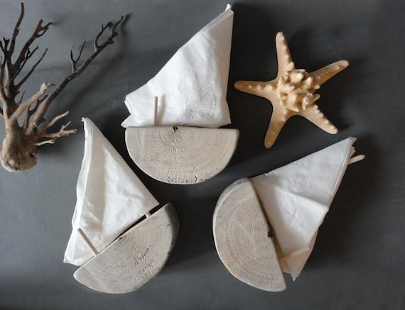 Authentic Driftwood Sailboat Napkin Holder