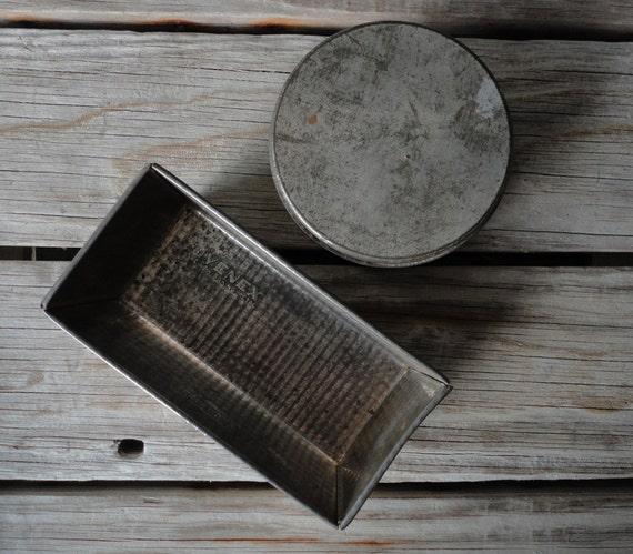 Perfectly Patina Round Metal Storage Tin