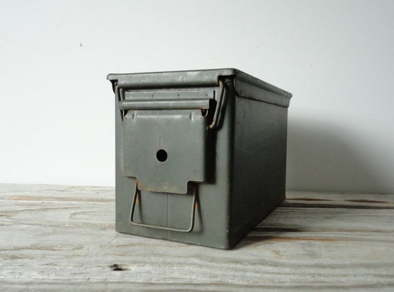 Industrial Army Green Amo Box