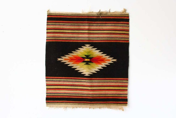Antique Woven Southwestern Tapestry / Area Rug
