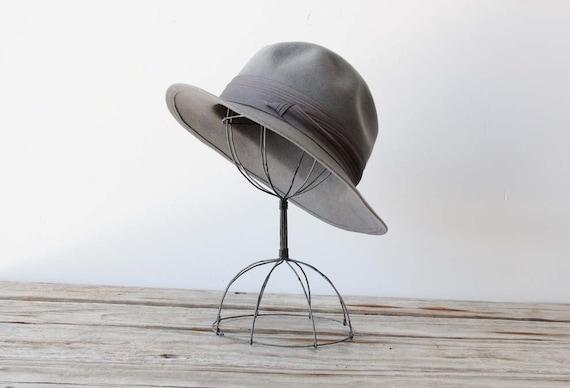 Grey Wool Hat. Boho Chic.