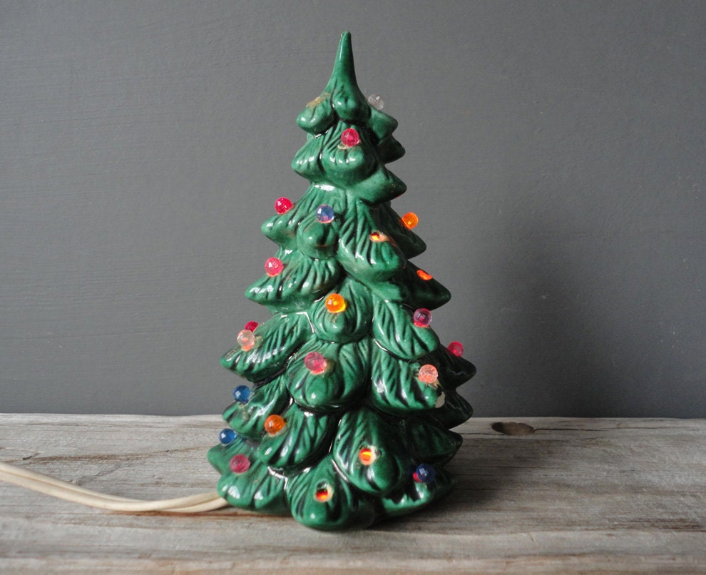 small ceramic light up christmas tree