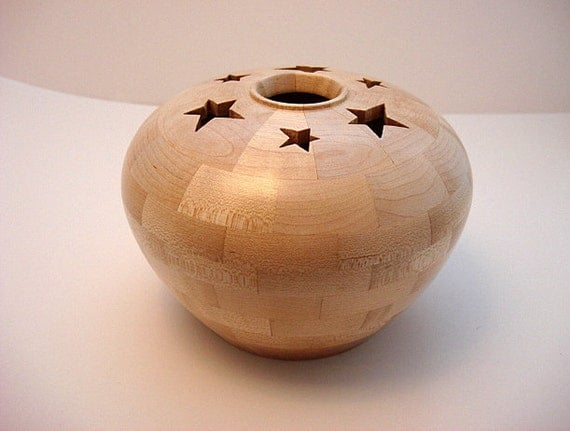 Wooden Star Music Box Segmented and Lathe Turned