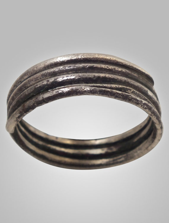Ancient Viking  Wedding Band 866-1067 A.D. Very Unique Size 12