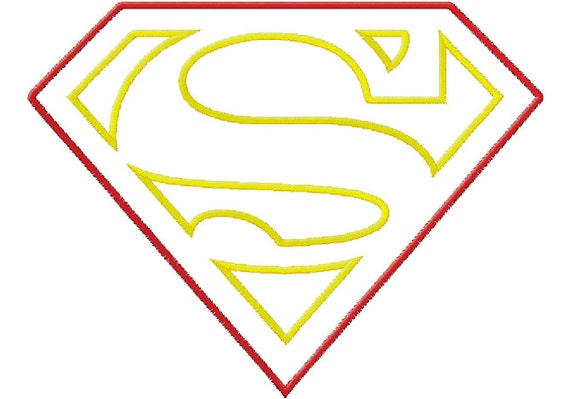 Items similar to Superman Logo Applique Embroidery Machine ...