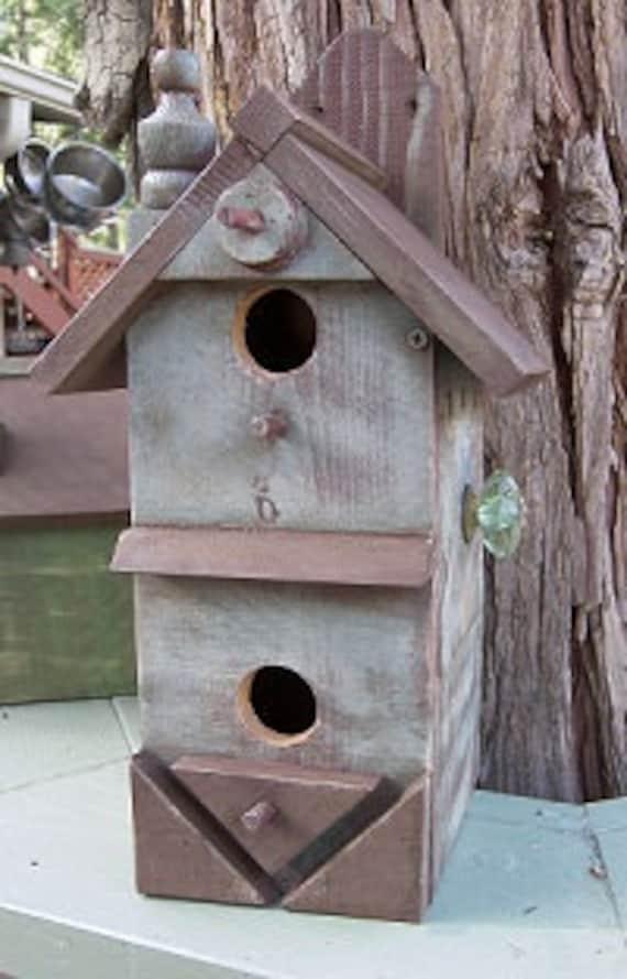 Rustic Birdhouses, Condo House, Chickadee House, Functional Birdhouse, Bird Box, Free Shipping US