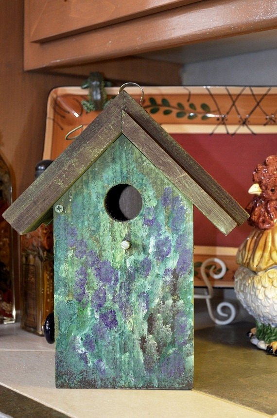Birdhouse Hand Painted Floral Ready To By