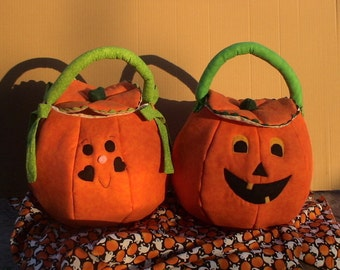 Trick or Treat Pumpkin Bag- Personalizing available
