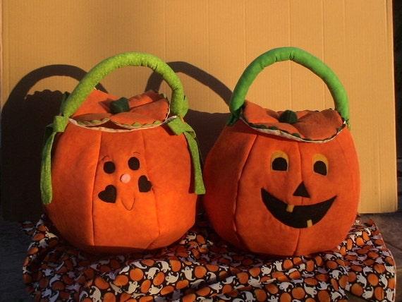 Pumpkin Trick or Treat Bag