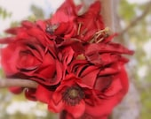 Red Red Wedding Bouquet