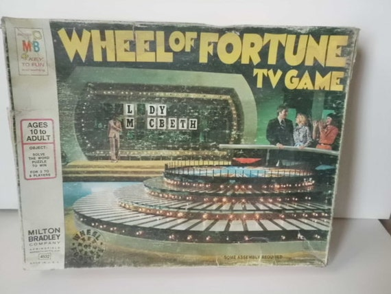 Old Vintage Wheel Of Fortune Board Game By Milton Bradley