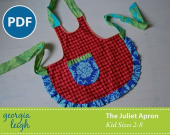 Moving Sale - The Juliet Apron Kid Sizes 2-8 PDF Sewing Pattern