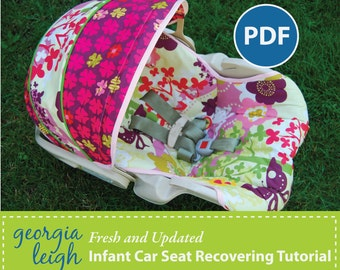 SALE How to REcover an Infant Car Seat plus Free Videos and BONUS Pattern