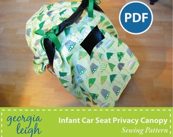 Infant Car Seat Privacy Canopy Sewing Pattern PDF