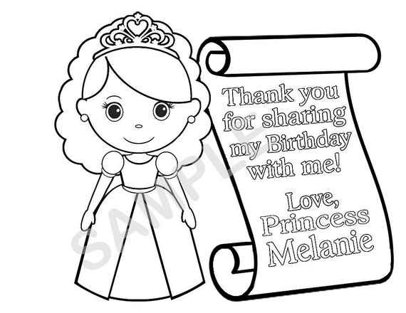 personalized birthday coloring pages | Personalized Printable Princess Prince Knight by ...