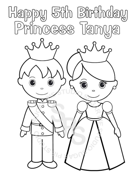 prince and princess coloring pages - photo#30