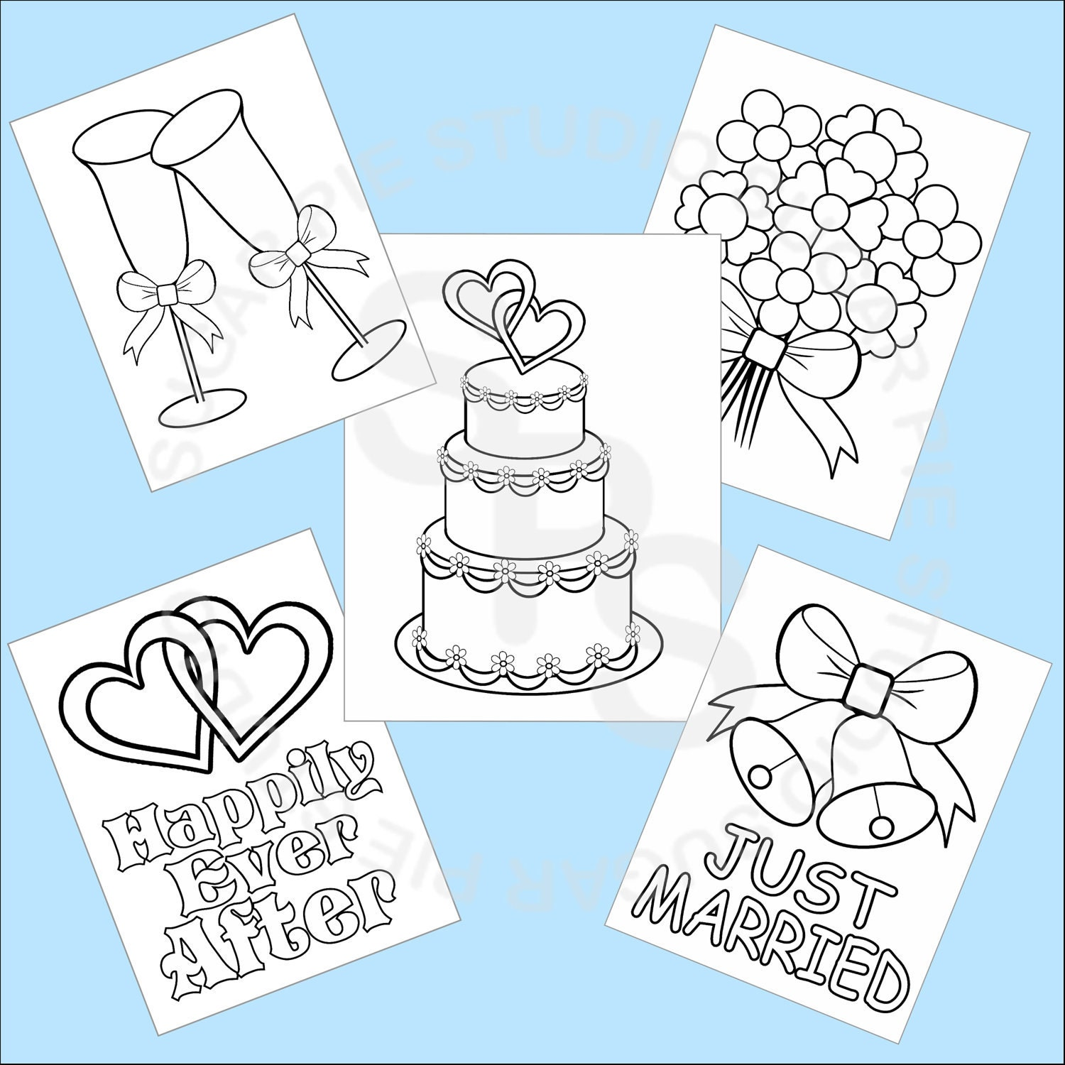 5 Printable Wedding Favor Kids Coloring Pages By