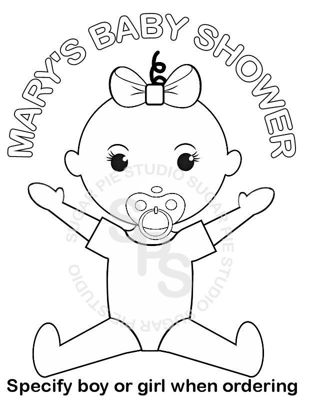 Personalized Printable Baby Shower Favor Childrens Kids