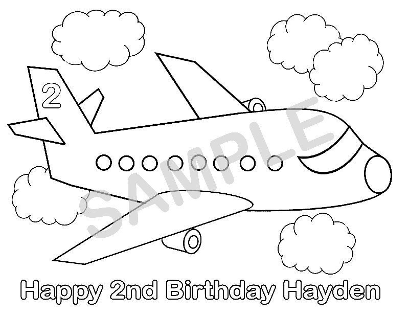 Personalized Printable Transportation Car Airplane Favor