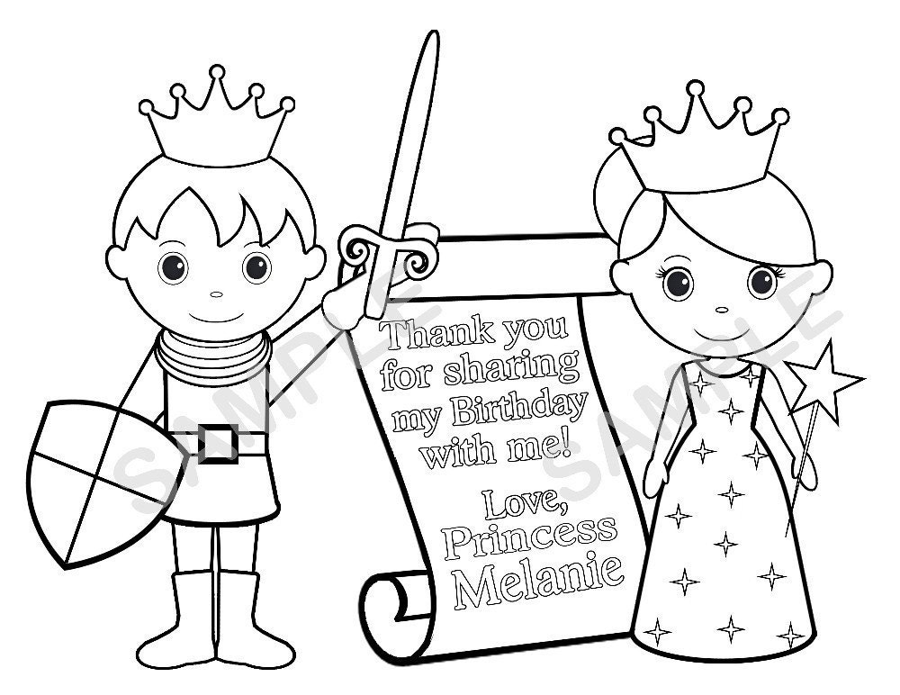 prince princess coloring pages - photo#44