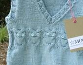Baby Owl Vest  / iceblue