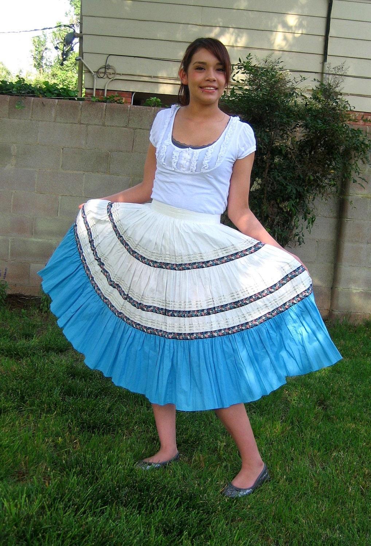 Vintage Prairie Skirt Indigienous Native American Circle Skirt