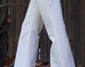 White Organic Cotton Twill Pant Medium