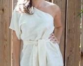 Organic Hemp/Silk White Kimono-Large