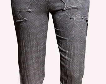 Hemp & Silk Cropped Bali Pant Small
